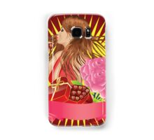 Girl with gift box and ribbon Samsung Galaxy Case/Skin
