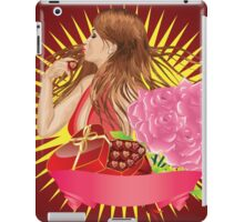 Girl with gift box and ribbon iPad Case/Skin