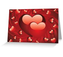 Glossy red hearts 2 Greeting Card