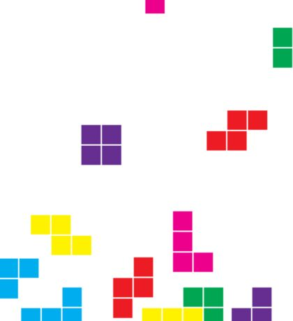 tetris on white Sticker