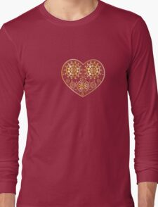 Gold ornament with heart Long Sleeve T-Shirt