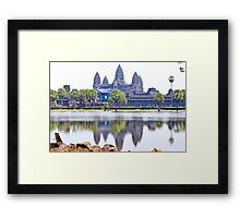 Angkor Wat Temple in Cambodia Framed Print