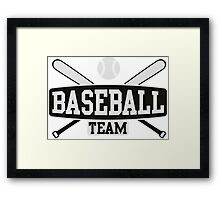 Baseball Team Framed Print