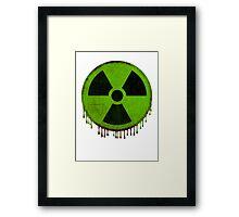 Radiation symbol green Framed Print