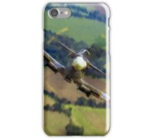 "Spitfire ""Coming UP Fast"" Fantastic  Spitfire WW2 art / aviation / military iPhone Case/Skin"