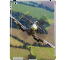 """Spitfire """"Coming UP Fast"""" Fantastic  Spitfire WW2 art / aviation / military iPad Case/Skin"""