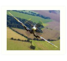 "Spitfire ""Coming UP Fast"" Fantastic  Spitfire WW2 art / aviation / military Art Print"