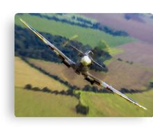 """Spitfire """"Coming UP Fast"""" Fantastic  Spitfire WW2 art / aviation / military Canvas Print"""