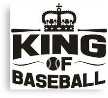 King of baseball Canvas Print