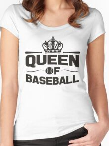 Queen of baseball Women's Fitted Scoop T-Shirt