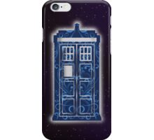 Blue Filigree TARDIS iPhone Case/Skin