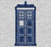 Blue Filigree TARDIS Kids Clothes
