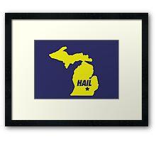 HAIL Michigan Framed Print