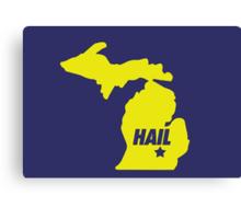 HAIL Michigan Canvas Print