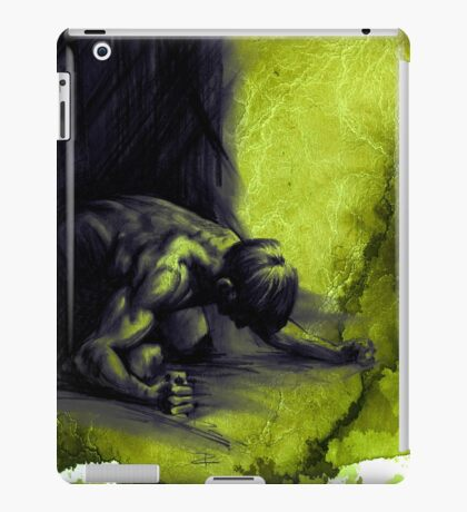 FRUSTRATION - conté drawing with overlay iPad Case/Skin