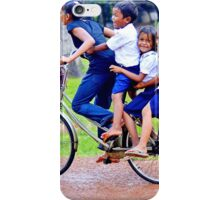 Happy children in Cambodia iPhone Case/Skin