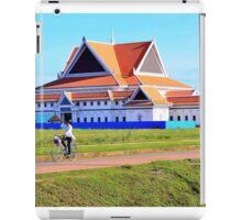 Cambodian girl on a bicycle iPad Case/Skin
