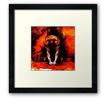 ANGER - conté drawing with overlay Framed Print