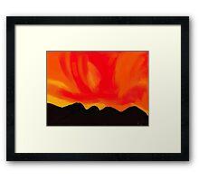 Blazing sky Framed Print