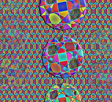 """""""Clebsch Graphs""""© by Lisa Clark for Thinker Collection - STEM Art"""