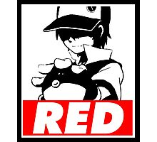 Red Obey Photographic Print