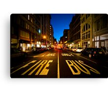 Standing on Fire Lane Canvas Print