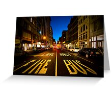 Standing on Fire Lane Greeting Card