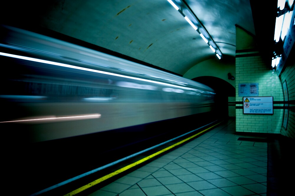 Gotham Train by Dominic Kamp