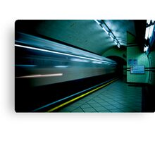 Gotham Train Canvas Print