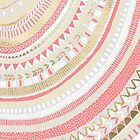 Coral + Gold Tribal by Tangerine-Tane