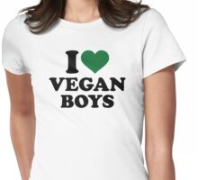 I love vegan boys Womens Fitted T-Shirt