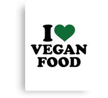 I love vegan food Canvas Print