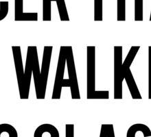 Walking To Class Face Sticker
