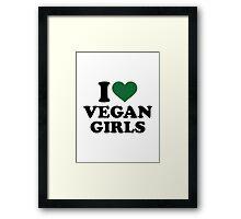 I love vegan girls Framed Print