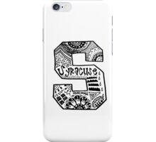 Hipster Syracuse Outline iPhone Case/Skin