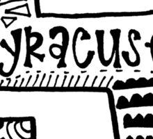 Hipster Syracuse Outline Sticker