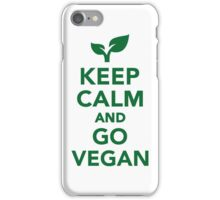 Keep calm and go vegan iPhone Case/Skin