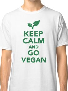 Keep calm and go vegan Classic T-Shirt
