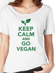 Keep calm and go vegan Women's Relaxed Fit T-Shirt