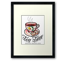 Tea Time Saucer and Cup Tattoo Design Framed Print