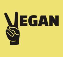 Vegan peace Baby Tee