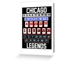 Chicago Legends Greeting Card