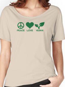 Peace love vegan Women's Relaxed Fit T-Shirt