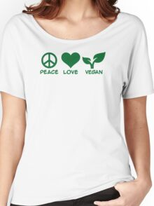 Peace love vegan Women's Relaxed Fit T-Shirt