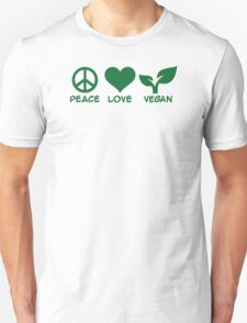 Peace love vegan Unisex T-Shirt