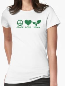 Peace love vegan T-Shirt