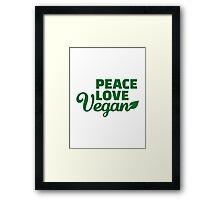 Peace love vegan Framed Print