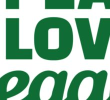 Peace love vegan Sticker