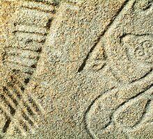 Brandsbutt Pictish stone by Stuart  Fellowes
