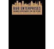 The Wire - B&B Enterprises - Brown Photographic Print